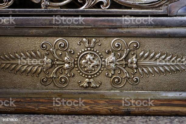 Closeup of antique cash register 3
