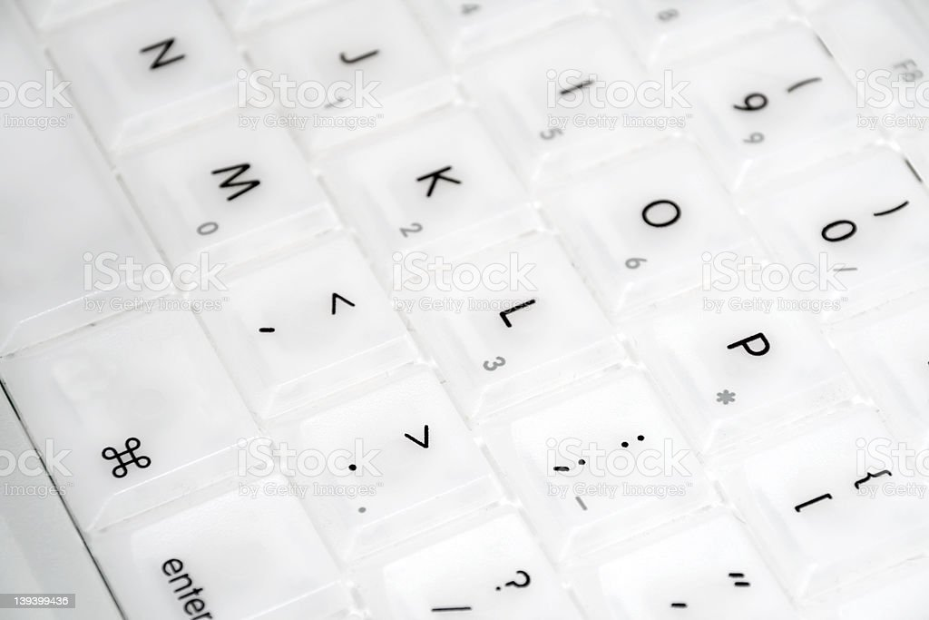 Closeup of Apple iBook keyboard stock photo
