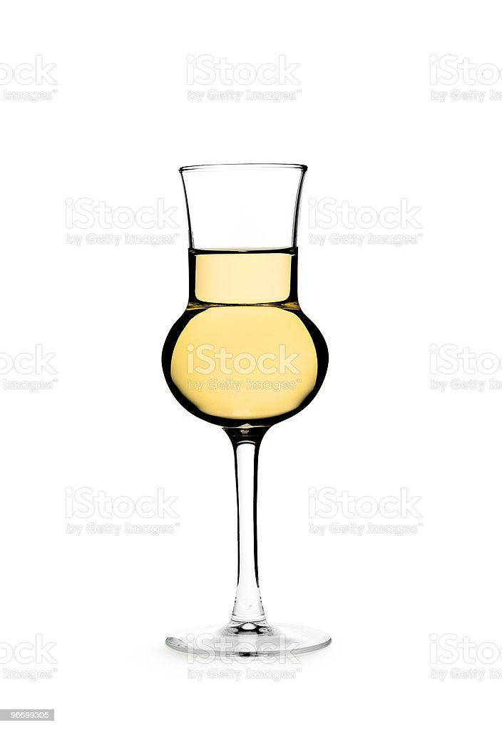 Close-up of artistic glass of alcohol stock photo