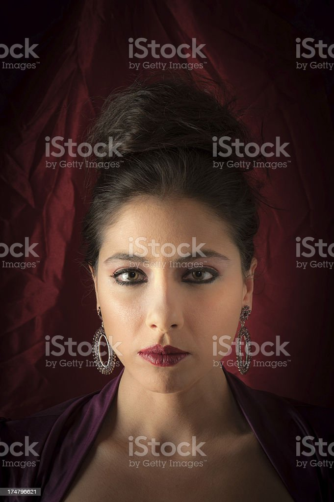 Closeup of Asian Woman royalty-free stock photo