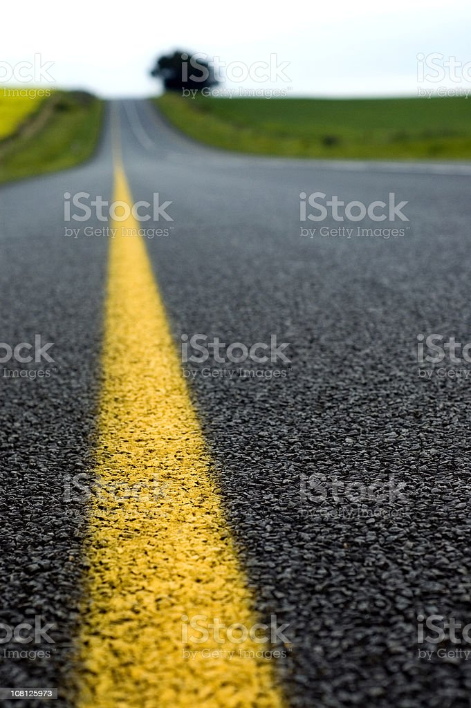 Close-up of Asphalt on Road in Countryside royalty-free stock photo
