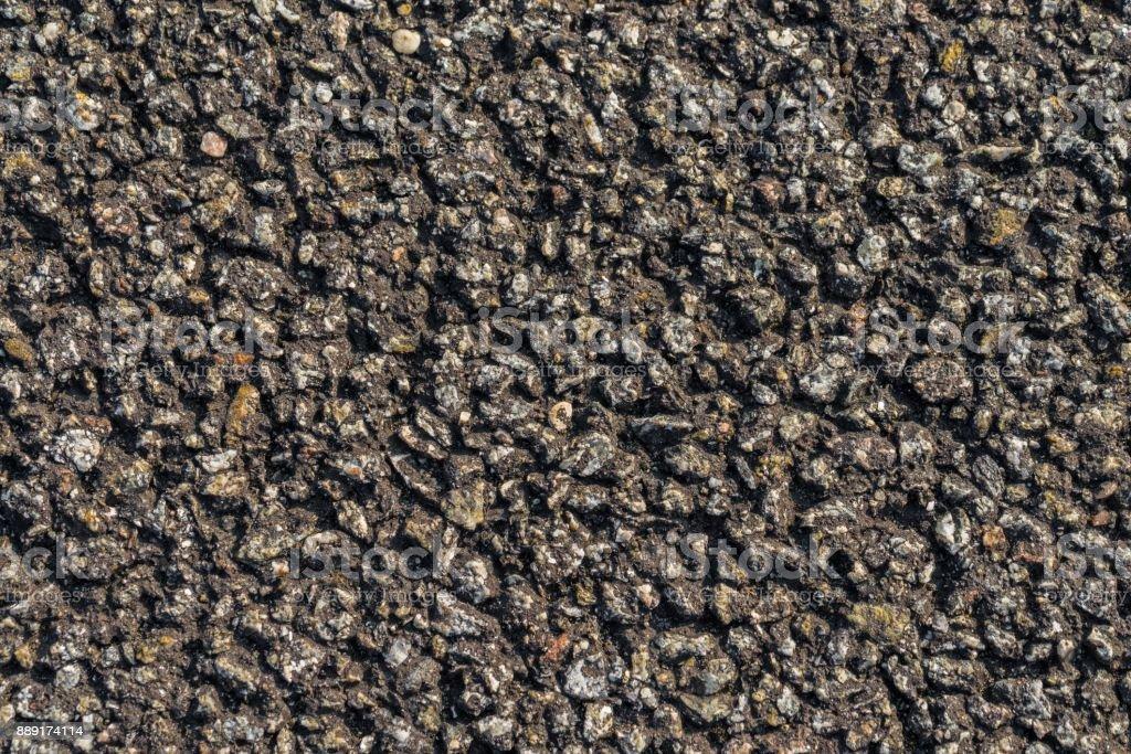 Closeup of asphalt stock photo