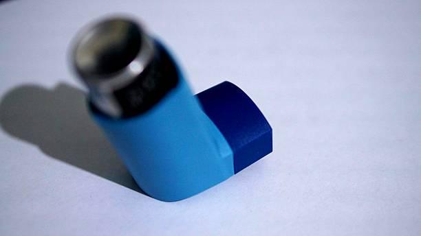 Close-up Of Asthma Inhaler stock photo