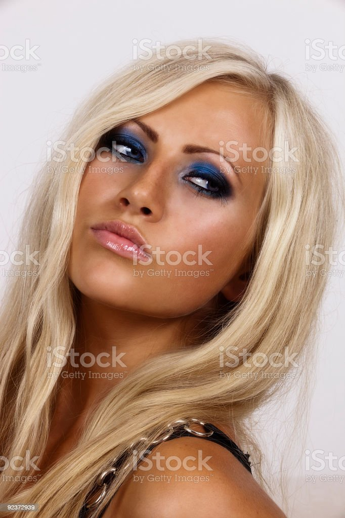 Closeup of attractive model royalty-free stock photo
