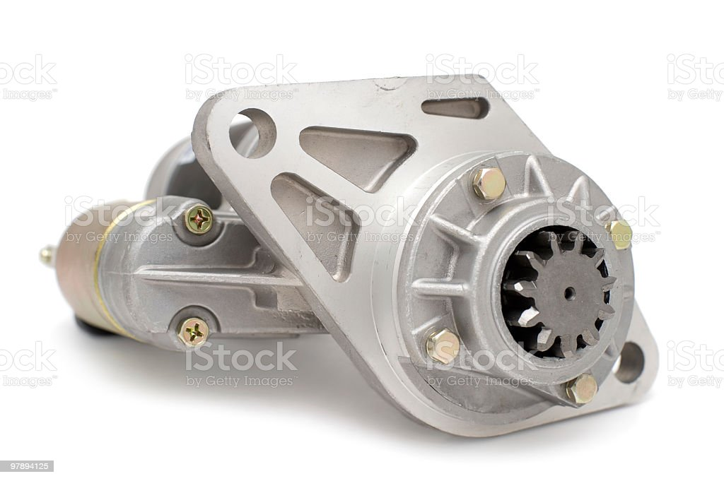 Close-up of auto parts isolated on a white background stock photo