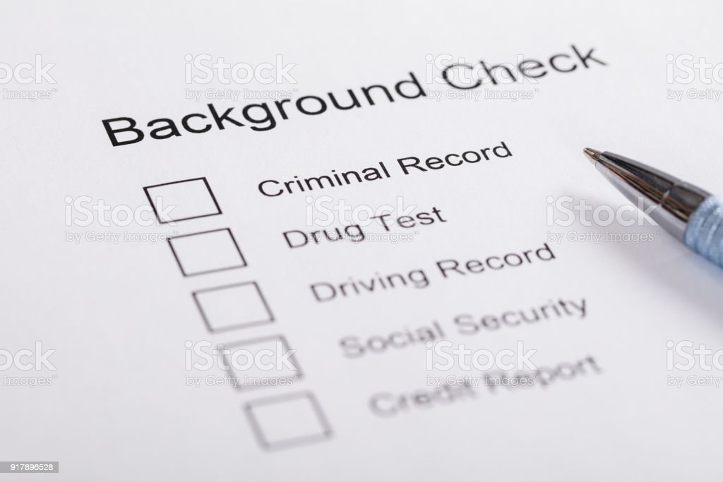 Closeup Of Background Check Form Stock Photo  Istock