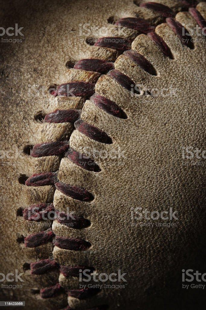 Close-up of Baseball with spotlight stock photo