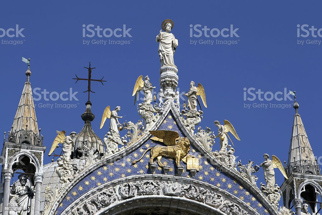Close-up of Basilica Di San Marco royalty-free stock photo