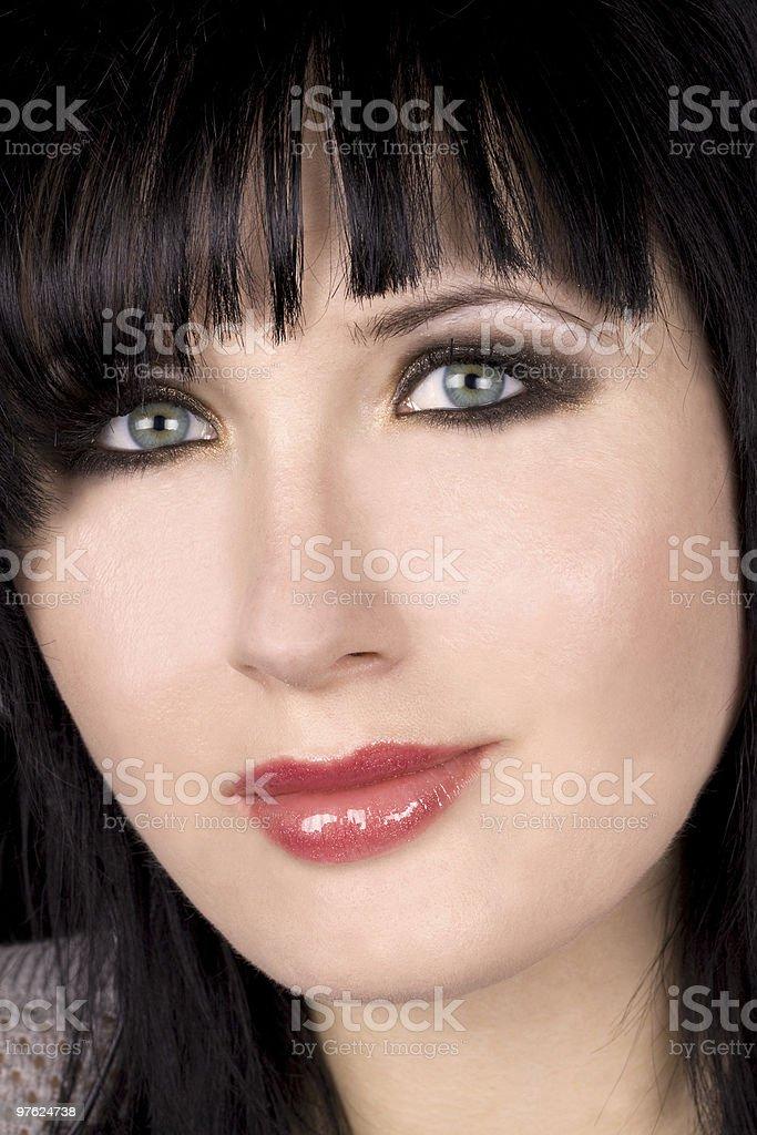 Close-up of beautiful face and makeup royaltyfri bildbanksbilder