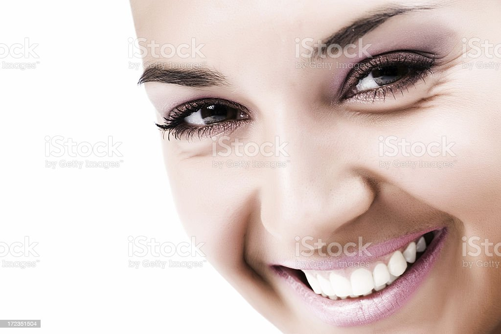 Close-up of beautiful face royalty-free stock photo