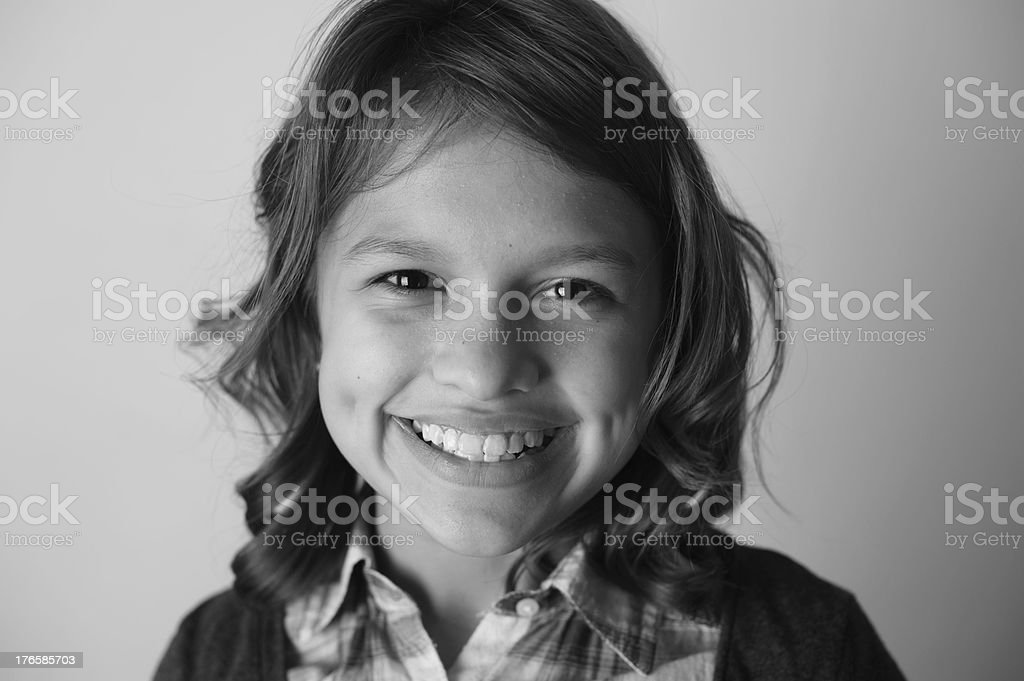 Closeup of Beautiful Smiling Girl with Dimples royalty-free stock photo