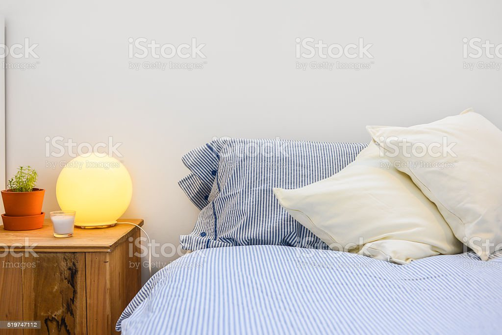 Close-up of bedroom and details stock photo