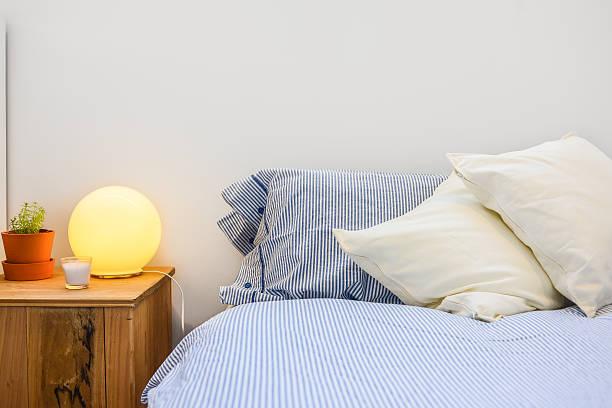 Nahaufnahme der Schlafzimmer und details – Foto