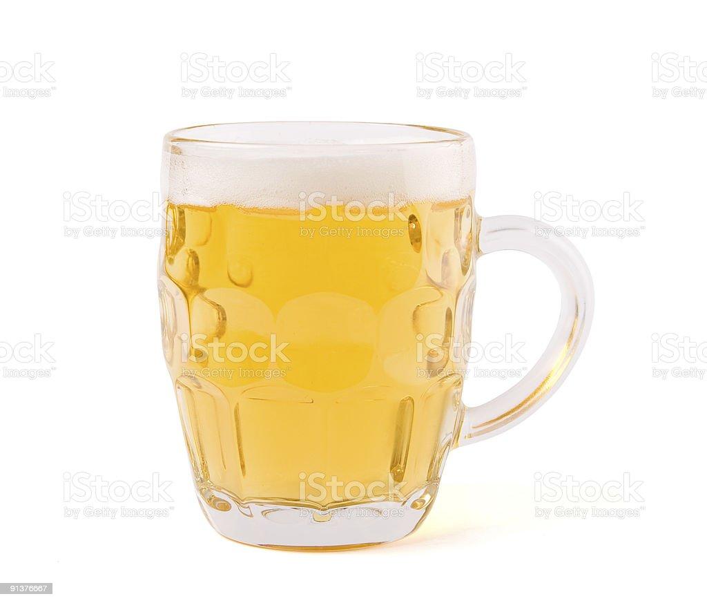 Closeup of beer mug stock photo