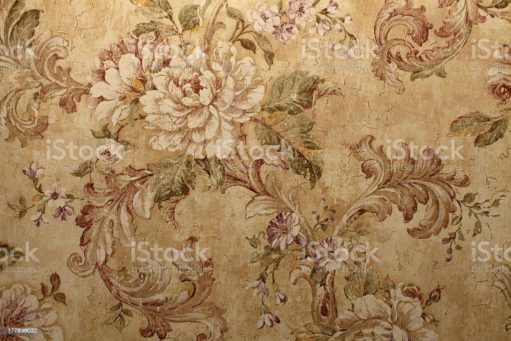 Papel pintado Vintage con patrón floral - foto de stock