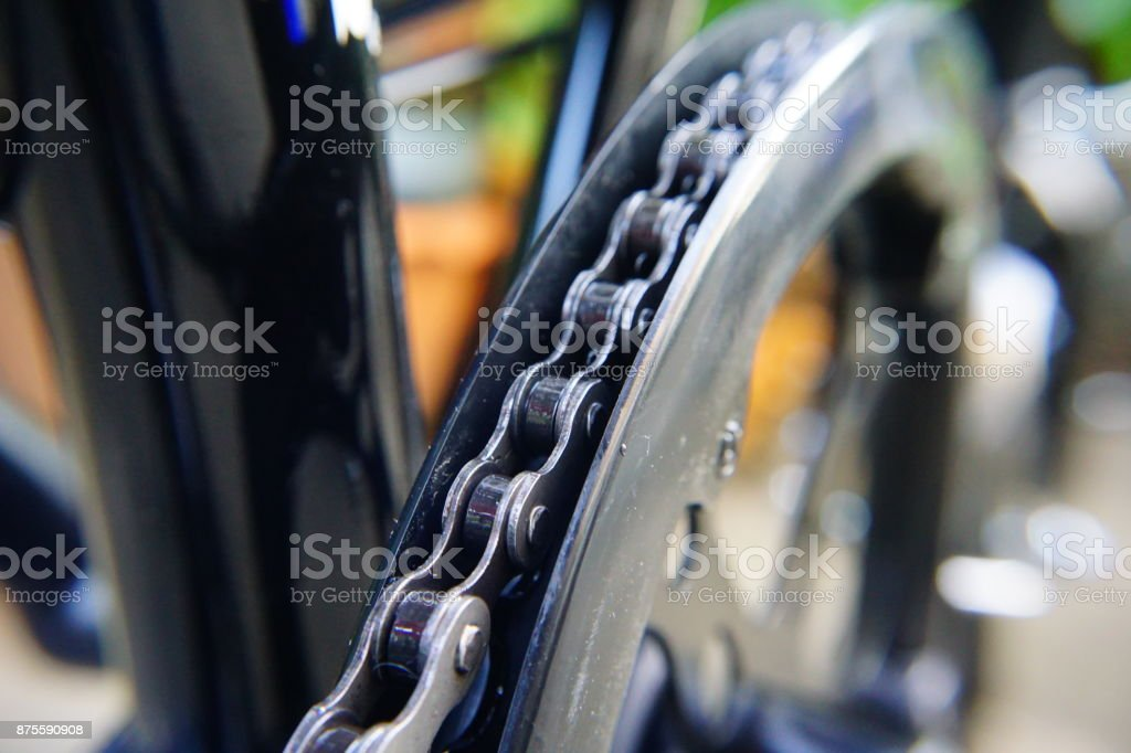 Close-up of bicycle Chain stock photo