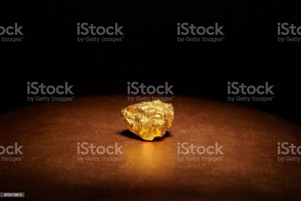 Closeup of big gold nugget stock photo