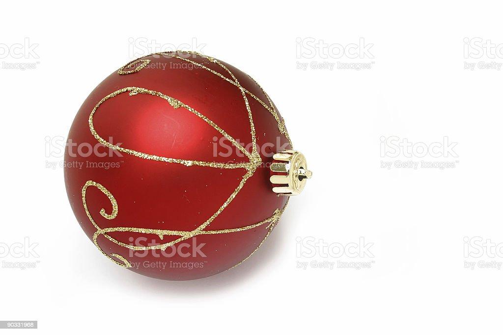 closeup of  big red Christmas ornament v6 royalty-free stock photo