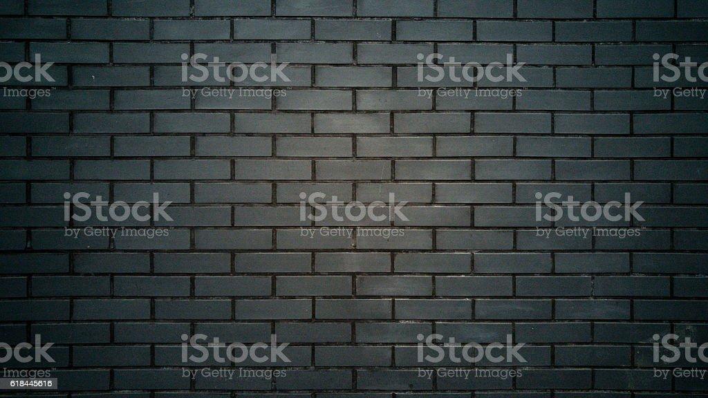 Closeup of black brick wall texture stock photo
