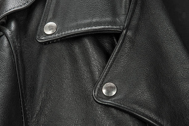 close-up of black leather jacket details close-up of black leather jacket details leather jacket stock pictures, royalty-free photos & images