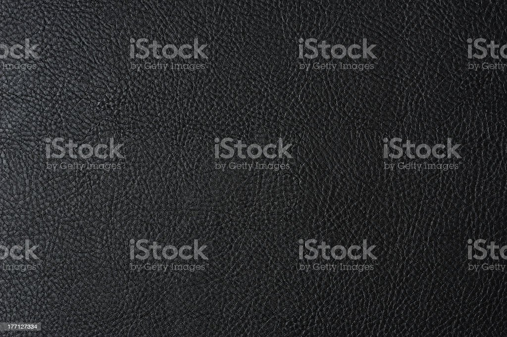 Close-up of black leather texture royalty-free stock photo