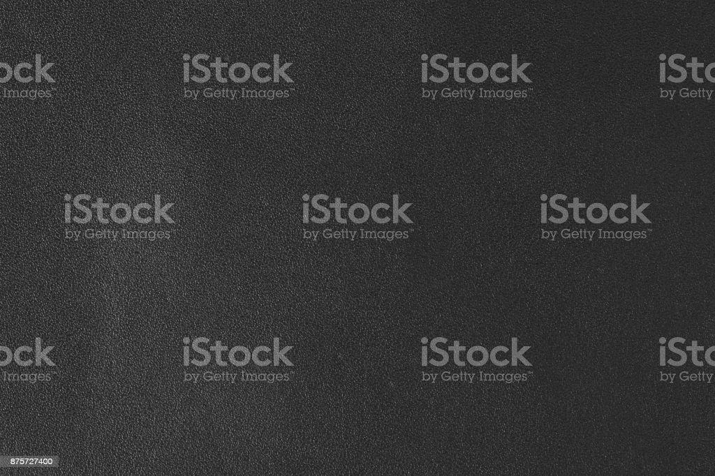 Closeup of black leather texture stock photo