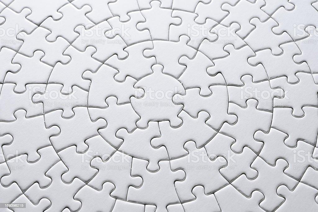 Close-up of blank circle jigsaw puzzle stock photo