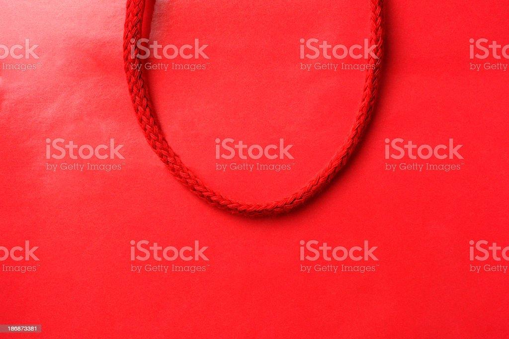 Nahaufnahme von blank Rote Einkaufstasche – Foto