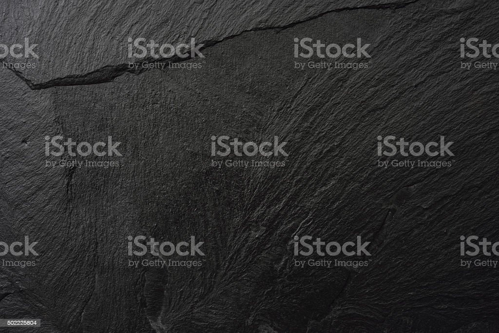 Close-up of blank slate textured background stock photo