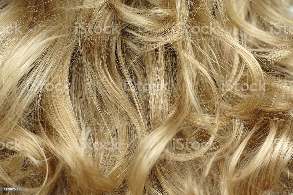Closeup of blonde hair full screen stock photo