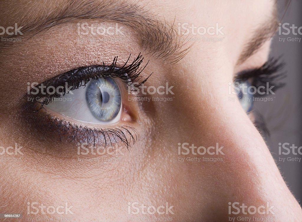 Close-up of blue eyes royalty-free stock photo