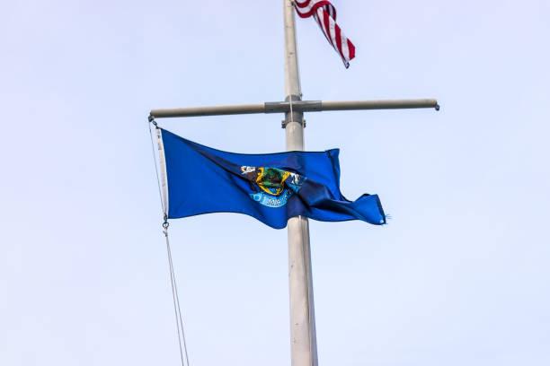 Closeup of blue maine state flag on pole picture id834760562?b=1&k=6&m=834760562&s=612x612&w=0&h=k9asgw n61grdyqml0 1nllernz4y3fn499cbs6yqqc=