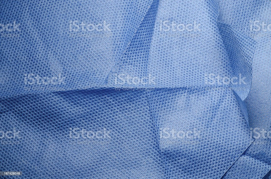 Close-up of blue medical non-woven fabric cloth stock photo