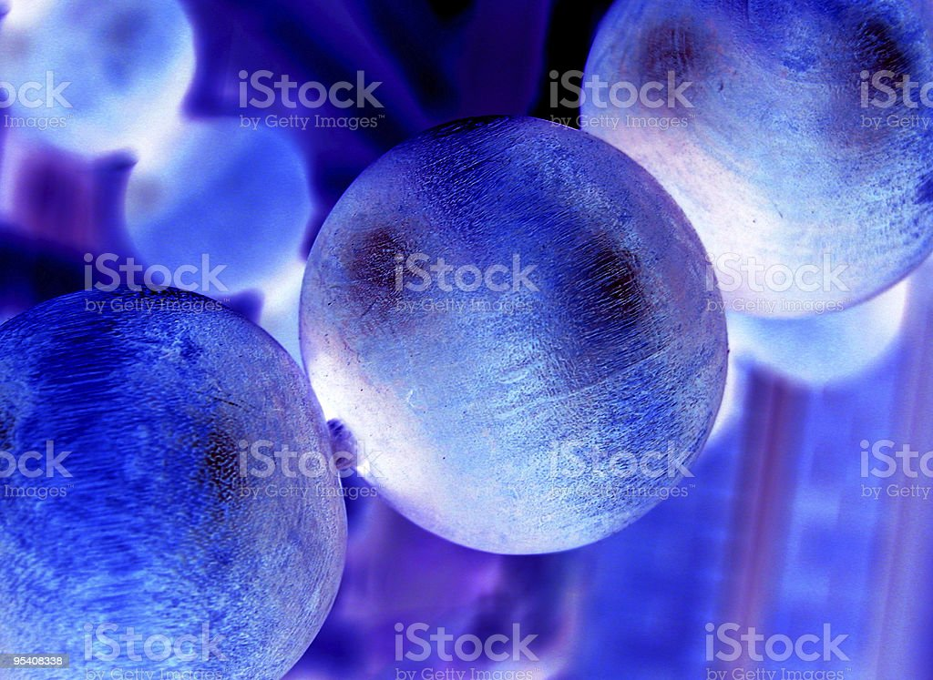 Close-up of blue molecule model stock photo