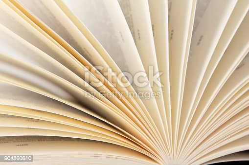 istock Close-up of book pages 904860610