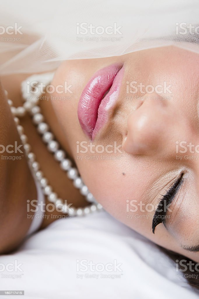 Close-up of bride royalty-free stock photo