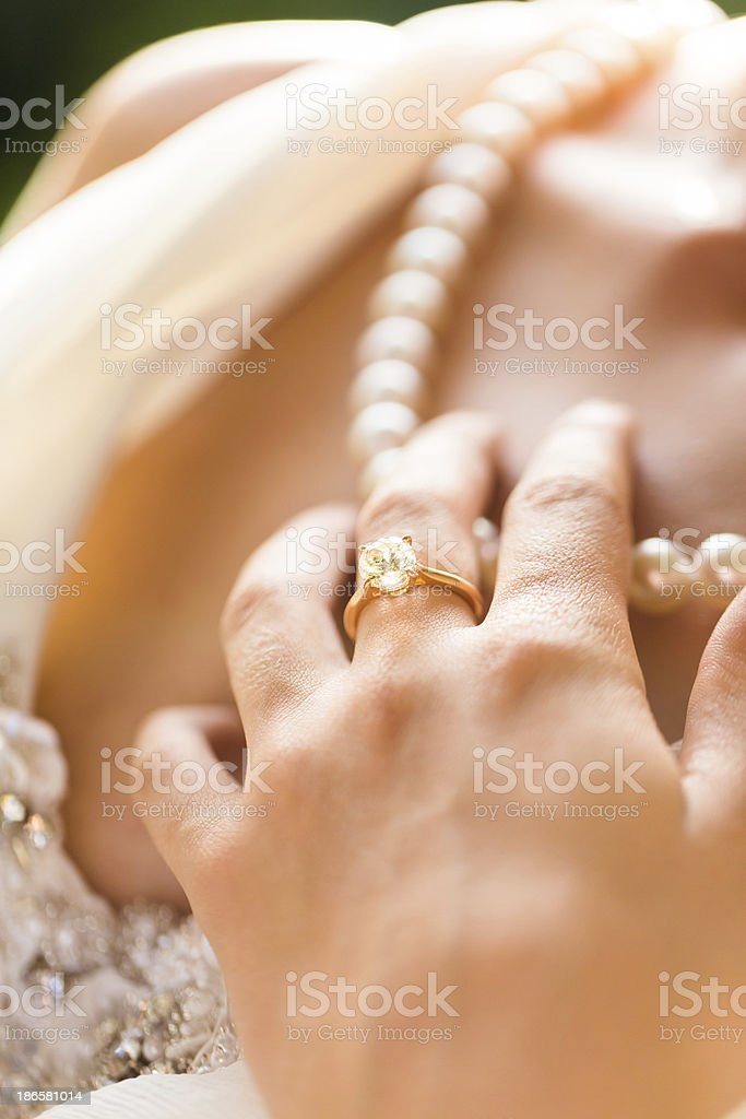 Close-up Of Bride's Hand royalty-free stock photo