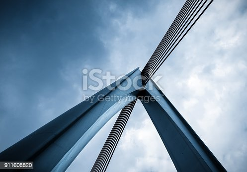 Close-up of bridge architecture in chongqing,china