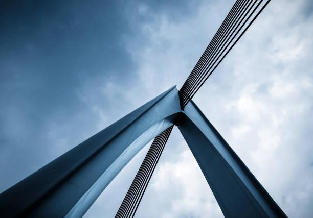 close-up köprü mimarisi, chongqing, çin - bridge stok fotoğraflar ve resimler