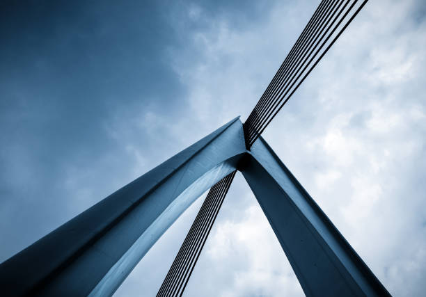 närbild av bridge arkitekturen i chongqing, kina - bridge bildbanksfoton och bilder