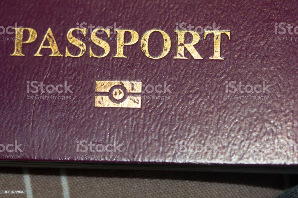 Nahaufnahme des britischen Reisepass-cover – Foto