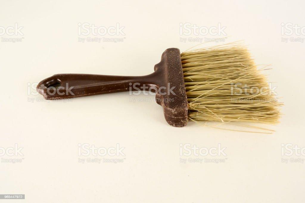 Close-up of broom brush royalty-free stock photo