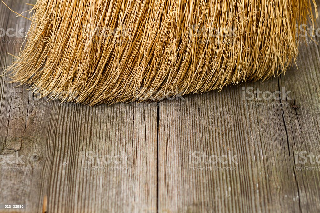 closeup of broom – Foto