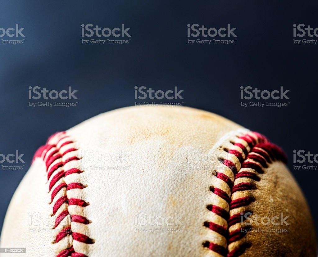Closeup of brown baseball ball sport equipment stock photo