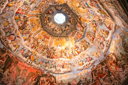Close-up of Brunelleschi's Dome in the Florence Cathedral