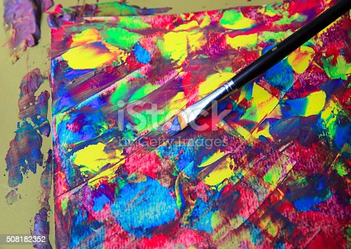544318804 istock photo Closeup of brush and palette 508182352