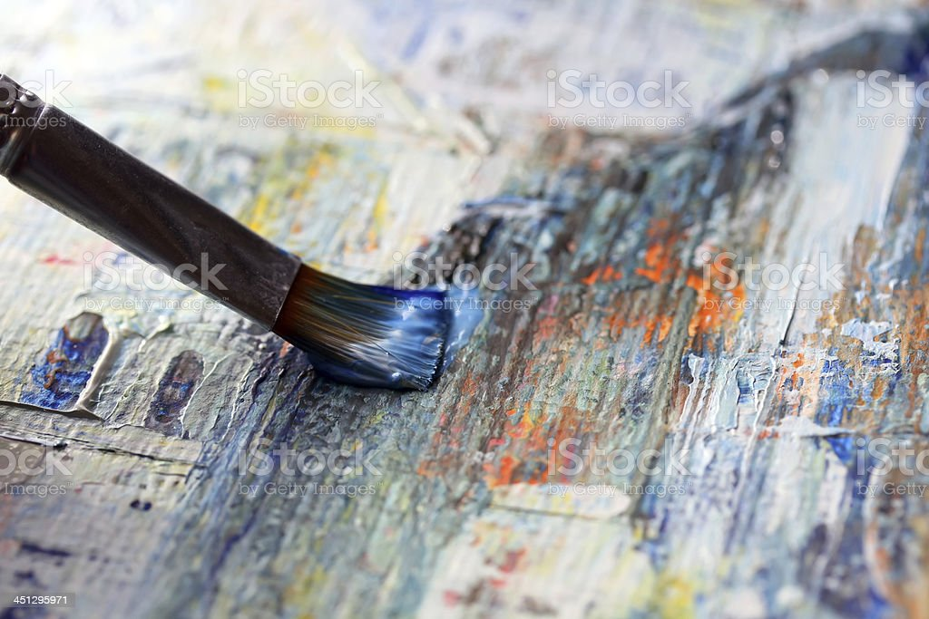 Closeup of brush stock photo