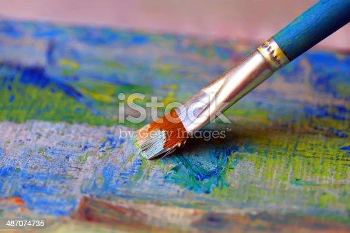 544318804 istock photo Closeup of brush 487074735