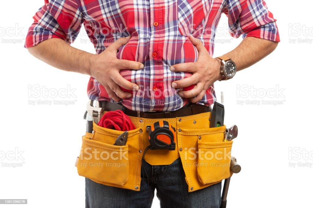 cinturón hinchado