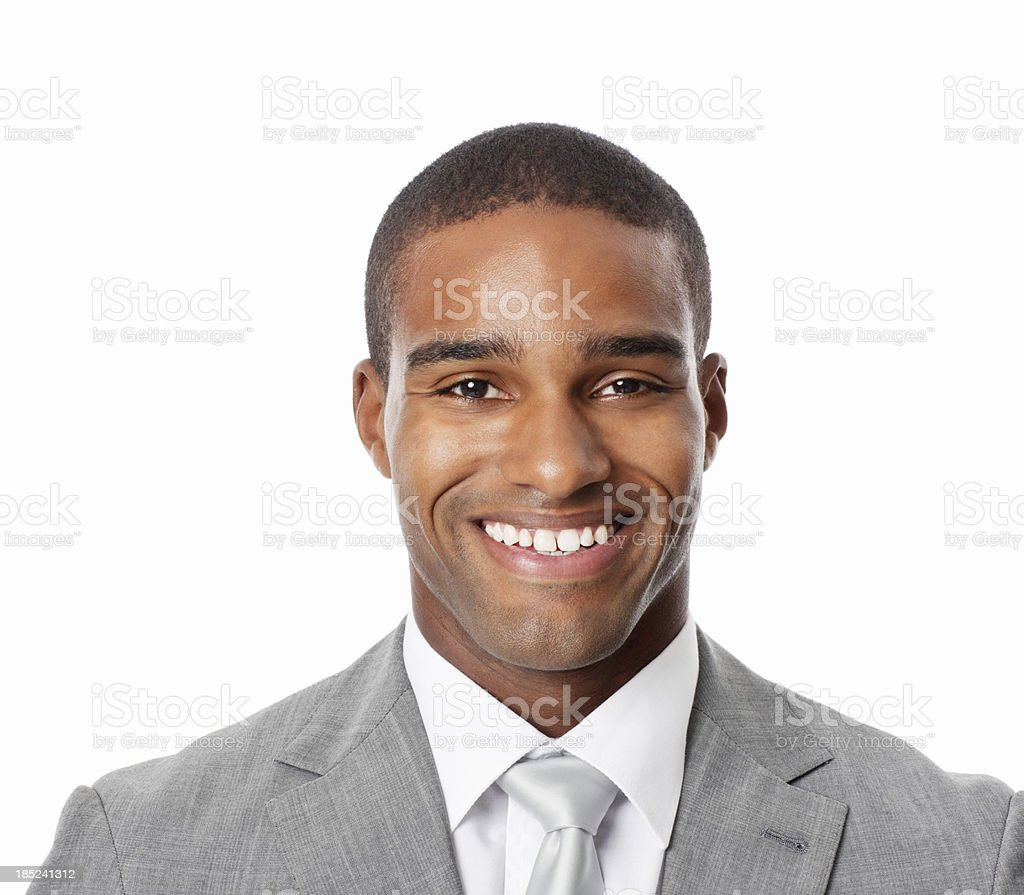 Close-Up Of Businessman Smiling - Isolated royalty-free stock photo